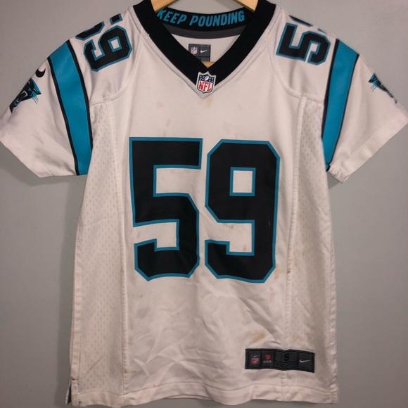 save off 1cdbd f1a68 Nike Carolina Panthers Luke kuechly Jersey small